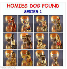 12 NEW RETIRED HOMIES DOG POUND SET SERIES 1 MINI CUP CAKE TOPPER FIGURES FAVORS