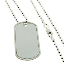 925 STERLING SILVER ARMY STYLE DOG TAG MEDALLION WITH CUSTOM ENGRAVING OPTIONS