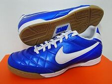NIKE TIEMPO NATURAL IV IC INDOOR COURT FUTSAL FOOTBALL SOCCER SHOES BLUE