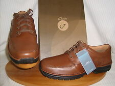 Clarks C&J mens lace up casual style shoe Brown Leahter H fit SCAHILL PATH