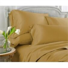 Sale 1000TC 100%Cotton Complete UK Bedding Collection Solid Gold Choose Items