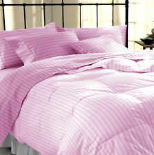 Sale 1000TC Deep Pocket 1PC Soft Fitted Sheet Pink Solid 100%Egyptian Cotton