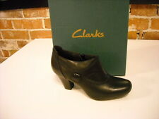 Clarks Ruby Edge Black Leather Button Shoes