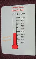 Fundraising Goal Thermometer vinyl decal - perfect for dry erase boards
