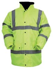 Baratec Yellow Contractor Hi Vis Coat Parka Jacket High Viz Visibility 80010
