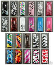 Selections of Air Brushed Designer French Nail Tips in 10 sizes Set C