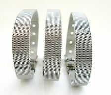 10pcs 8mm/10mm DIY Stainless Steel Wristband Bracelet Fit slide letters/charms