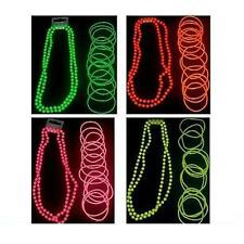 NEON BEADS NECKLACE & OR BANGLES Gummies 1980s Fancy Dress For Tutu Set