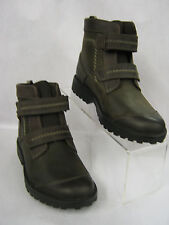 "CHILDRENS CLARKS BOYS BOOTS IN BROWN LEATHER ""DIGGY SAM"""