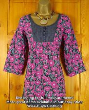 NEW WHITE STUFF GREY BLUE PINK POPPY TEA PALACE TUNIC TOP UK SIZE 8 - 18 RRP £39