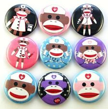 medical nurse doctor sock monkey magnet pin badge button charm christmas gift