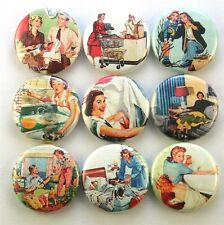 vtg mom mothers day 50's fridge magnet pin badge button cab charm scrapbooking