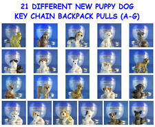 PUPPY DOG PUPPIES (A-G) KEYCHAIN,  BACKPACK ZIPPER PULL -  YOU PICK ONE PUPPY
