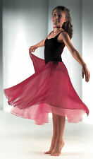 Elegant Full Skirt Velvet Bodice Burgundy or Green Lyrical Dress Dance Costume