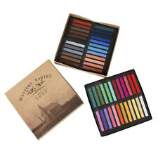 Artists Long Soft Pastels 24,36,48 Colors Set AP Non-toxic Square Chalk bright