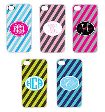 Rain Pattern Personalized iPhone 4 4S Custom Monogrammed Hard Case Cover