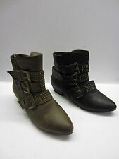 Spot On F5512 Ladies Studded Ankle Boots
