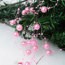 Christmas bead ornaments tree decorations pink fishing line free shipping
