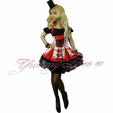 Queen of Hearts Fancy Dress Alice in Wonderland Plus Size 6 - 22 Womens Outfit