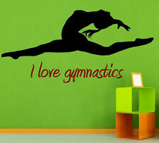 I love gymnastics Decal VERSION 2. Wall Decal & Wall Sticker. Many colours. New