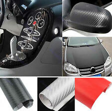 "30x127cm 12""x50""  3D DIY Carbon Fiber Wrap Roll Sticker For Car Auto Detailing"