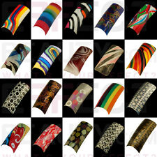 100 Pretty Acrylic Pre-Designed Nail Tips 24 Designs to Choose From! UK Seller