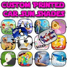 Personalised Children baby Car Sun Shades Window Screen child full colour - x 1