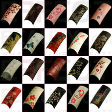 100 Flower Acrylic Pre-Designed Nail Tips 26 Designs to Choose From!UK Seller