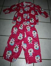 NEW Carter's Child of Mine Pink Flannel 2-Pc Pajamas ~Goodnight Bear~ Inf/Tod