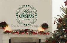 Merry Christmas To You Vinyl Decal Wall Sticker Words Letters Christmas Decor