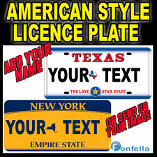 American style licence plate - Car Retro Number - door bedroom sign plaque usa
