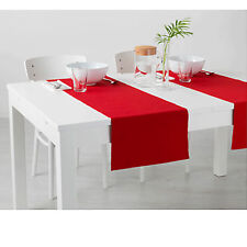 Ikea Marit Red Table Runner - 2 x Dining Table Placemats - Christmas Dinner