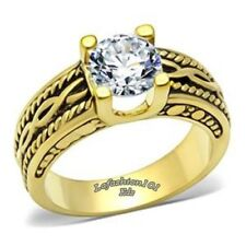 Antique Style Womens Gold Ion Plating Wedding/Engagement Ring SIZE 5,6,7,8,9,10