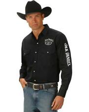 JACK DANIELS LONG SLEEVE MENS EMBROIDERED SHIRT JD OFFICIAL MERCHANDISE WESTERN