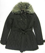 Ladies Quilted jacket Faux Fur Re moveable Collar
