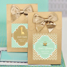 24 Personalized Custom Baby Shower Candy Buffet Pary Favor Bag Box Boxes