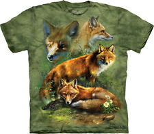 NEW RED FOX COLLAGE Mammal Animal Wildlife The Mountain T Shirt