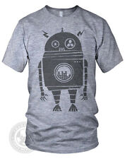 EQ ROBOT Vintage radio wind-up toy American Apparel Mens TR401 Tri-Blend T-Shirt