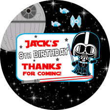 1x A4 Sheet Personalised STAR WARS dress up BIRTHDAY PARTY bag labels STICKERS