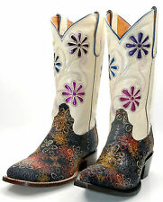 Lucchese M3504 & M3828 Womens Multi-Color Shaved Stingray Cowboy Boots