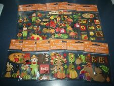 NEW Fall & Thanksgiving Handmade Dimensional Stickers ~Choice of 11 Varieties~