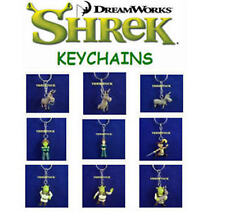 NEW RETIRED SHREK MOVIE MINI COLLECTION FIGURE KEYCHAINS BACKPACK ZIPPER PULLS
