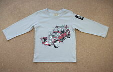 Monster Republic Hot Rod Long Sleeve Boy's Tee, Gray