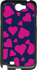 Valentine's Navy and Pink Heart Collage Samsung Galaxy Note II 2 Hard Case Cover