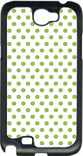 Small White and Green Polka Dots on Samsung Galaxy Note II 2 Hard Case Cover