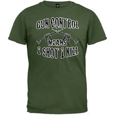 One Shot One Kill Military Green Adult Mens T-Shirt