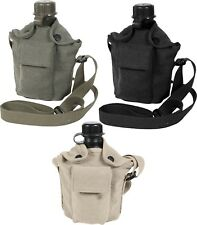 Vintage Military One Quart Canteen Cover & Shoulder Strap