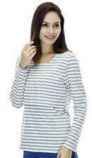 New Stripey Nursing Breastfeeding Top(UK 8-16,M-XXL)Long Sleeve