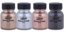 Mehron Theatrical Metallic Powder Paint For Special Effects- & Mixing Liquid