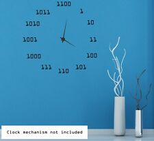 Cool Binary Clock Background 2. Wall Sticker & Wall Decal. Many colours. New!